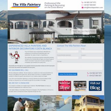 The Villa Painters Calpe Costa Blanca Alicante Spain