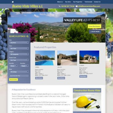 Buena Vista Villas Real Estate Jalon and Orba Valleys Costa Blanca Spain