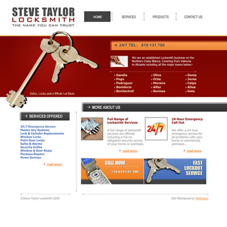Steve Taylor Locksmith Pego Costa Blanca Alicante Valencia Spain