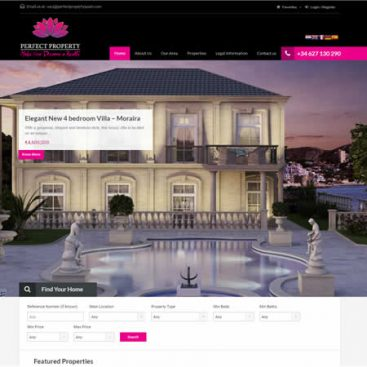 Perfect Property Javea Website